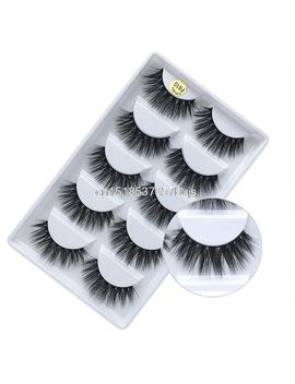Mb Fashion 5 Pairs Lashes 3 D Mink Eyelashe 100 Percents Cruelty Free Lashes Handmade Reusable Natural Eyelashe Wispie False Lashe Makeup by Mb Tattoo