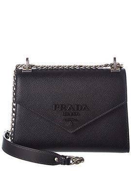 Prada Monochrome Saffiano Leather Shoulder Bag by Prada