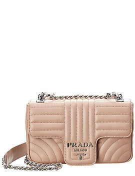 Prada Diagramme Leather Shoulder Bag by Prada