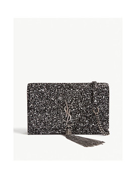 Kate Glitter Wallet On Chain by Saint Laurent