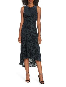 Burnout Velvet High/Low Dress by Vince Camuto