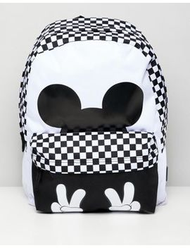 Vans X Disney Checkerboard Mickey Realm Backpack by Vans