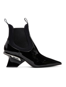 Black Patent Leather Boots by Prada
