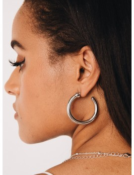 Feo Open Hoops Silver by Princess Polly