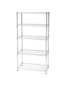 "Seville Classics 5 Shelf Ultra Zinc Steel Wire Shelving System (18""X36""X72"") by Seville Classics"