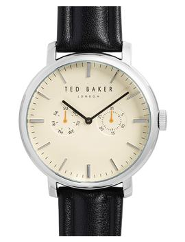 Trent Leather Strap Watch, 43mm by Ted Baker London