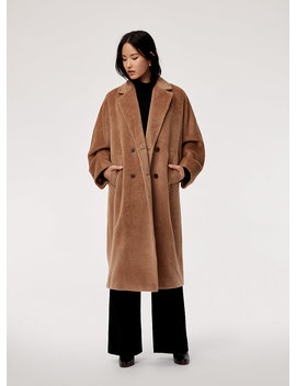 Jerome Wool Coat   Oversized, Alpaca Wool, Double Breasted Coat by Babaton