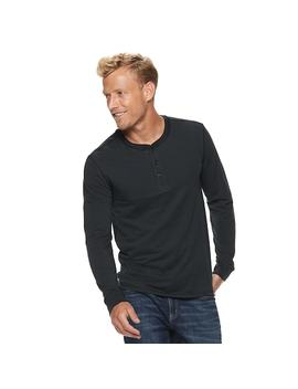 Men's Sonoma Goods For Life™ Slim Fit Supersoft Henley by Kohl's
