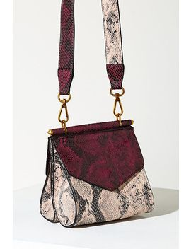 Two Tone Snakeskin Crossbody Bag by Anthropologie