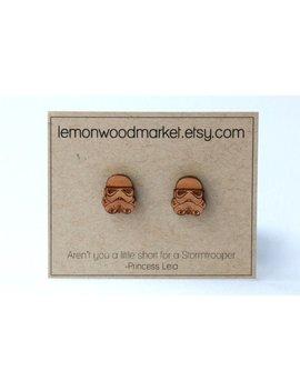 Stormtrooper Earrings   Alder Laser Cut Star Wars Wood Earrings by Etsy