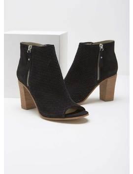 Josie Black Woven Shoe Boot by Mint Velvet