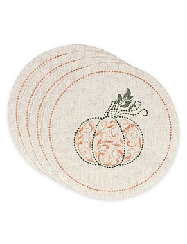 Lenox® French Perle™ Pumpkin Placemats (Set Of 4) by Bed Bath And Beyond