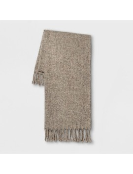"""60""""X50"""" Heathered Boucle Throw Blanket Neutral   Threshold™ by Threshold™"""