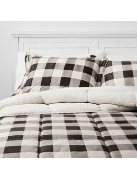 3pc Billie Plaid Mink Comforter Set by Target