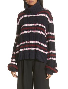Zaira Stripe Turtleneck Sweater by A.L.C.