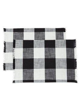 Festive Fall Collection Buffalo Check Placemats, Set Of 2 by Southern Living