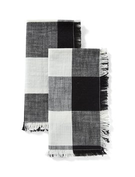 Festive Fall Collection Buffalo Check Napkins, Set Of 2 by Southern Living