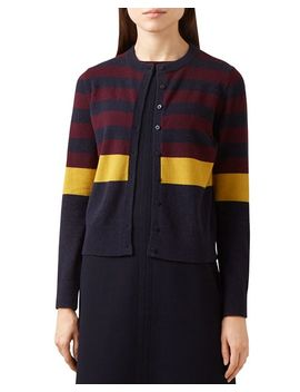 Claudia Color Block Cardigan   100 Percents Exclusive by Hobbs London