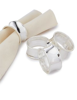 Bead Elegance Napkin Rings, Set Of 4 by Noble Excellence