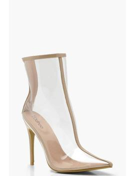 Pointed Clear Shoe Boots by Boohoo