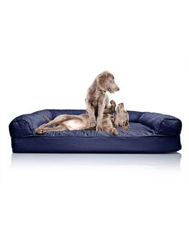 Quilted Navy Orthopedic Sofa Pet Bed by Pier1 Imports
