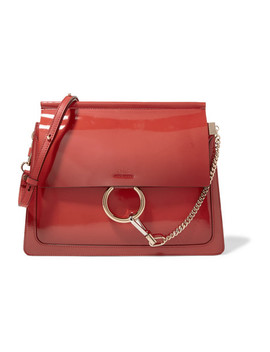 Faye Medium Glossed Leather Shoulder Bag by Chloé
