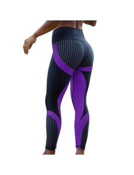 Hayoha Mesh Pattern Print Leggings Fitness Leggings For Women Sporting Workout Leggins Elastic Slim Black White Pants by Hayoha