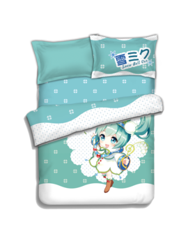 Japanese Anime Hatsune Miku Bed Sheets Bedding Sheet Bedding Sets Bedcover Quilt Cover Pillow Case 4 Pcs by Acgn