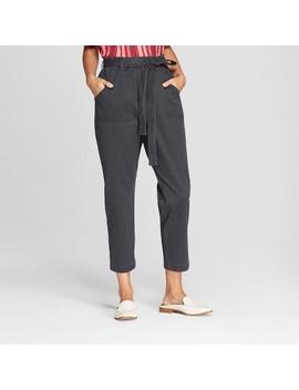 Women's Tie Waist Pants   Universal Thread™ Washed Black by Universal Thread™