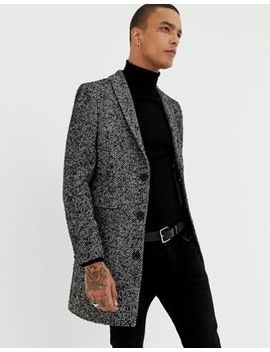 Twisted Tailor Herringbone Coat by Twisted Tailor