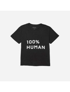 The 100 Percents Human Box Cut Tee In Medium Print by Everlane