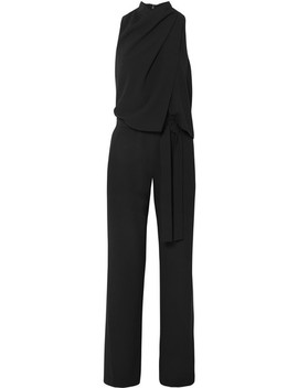 Draped Crepe Jumpsuit by Halston Heritage