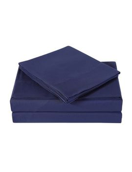 Navy Microfiber 4 Piece Sheet Set by Pier1 Imports