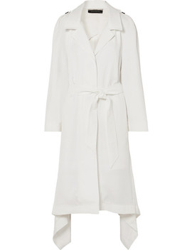 Victor Asymmetric Twill Coat by Roland Mouret