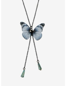 Butterfly Wings Drop Necklace by Hot Topic