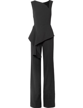 Keene Draped Crepe Jumpsuit by Roland Mouret