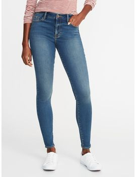 Mid Rise Built In Warm Rockstar Super Skinny Jeans For Women by Old Navy