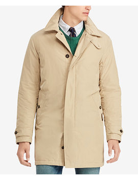 Men's Big & Tall Letterman Down Jacket by Polo Ralph Lauren