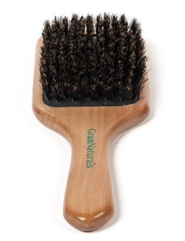 Gran Naturals Boar Bristle Hair Brush For Women And Men   Natural Wooden Large Flat Square Paddle Hairbrush   For Thick, Fine, Thin, Wavy, Straight, Long, Or Short Hair by Gran Naturals