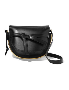 Gate Small Embellished Textured Leather Shoulder Bag by Loewe