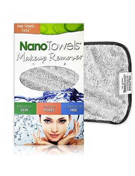 "Nano Towel Makeup Remover Face Wash Cloth. Remove Cosmetics Fast And Chemical Free. Wipes Away Facial Dirt And Oil Like An Eraser. Great For Sensitive Skin, Acne, Exfoliating, Mascara, Etc. 7 X 16"" by Life Miracle"