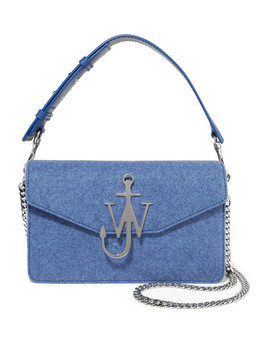 Logo Felt And Leather Shoulder Bag by Jw Anderson