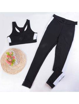 2018 Women's Tracksuit Tights Sportswear Fitness Yoga Suit Sport Set For Female Gym Clothing Workout Two Piece Jumpsuit Crop Top by Calofe