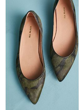 All Black Jungle Ballet Flats by All Black