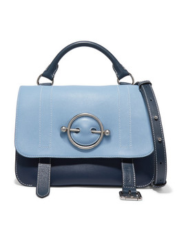 Disc Two Tone Leather Shoulder Bag by Jw Anderson