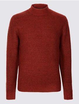 Supersoft High Neck Jumper With Wool by Marks & Spencer