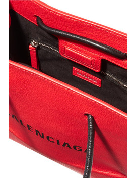Xxs Aj Printed Textured Leather Tote by Balenciaga
