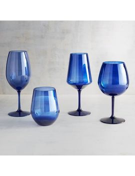 Blue Acrylic Stemware by Clarity Collection