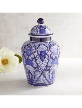 Blue & White Ginger Jar by Pier1 Imports