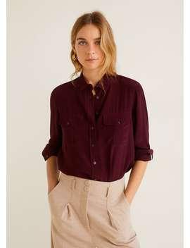 Camicia Fluida Tasche by Mango